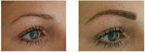 wenkbrauwen permanente makeup hairstrokes