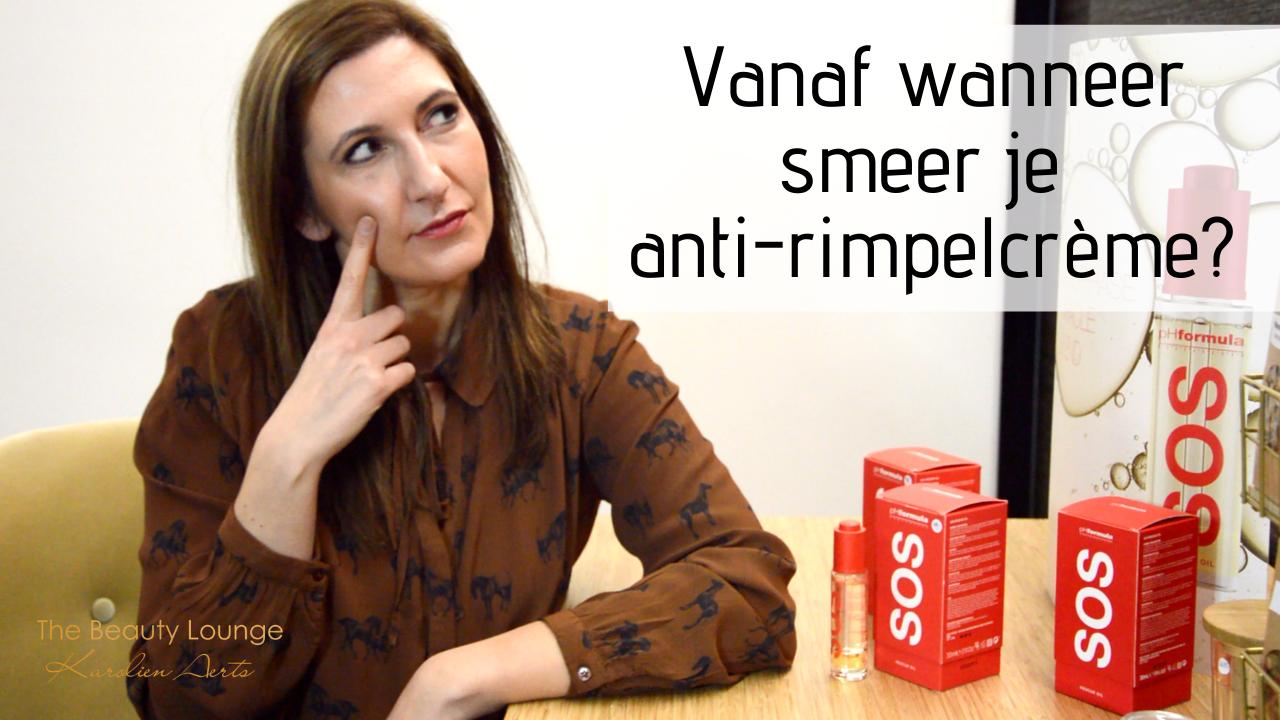 Vanaf Wanneer Smeer Je Anti-rimpelcrème?